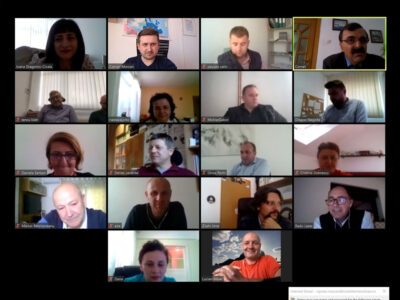 Management meeting for the INTRIDE project, organized on ZOOM